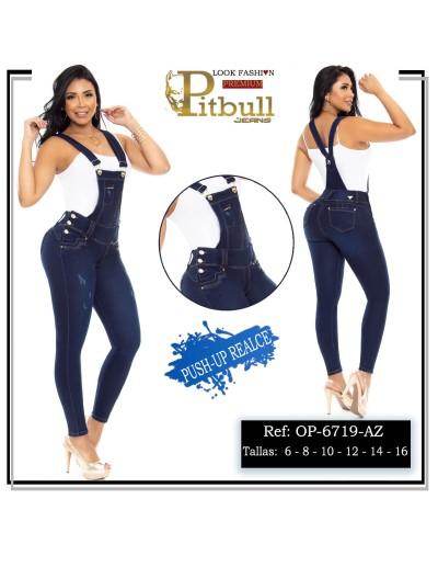 overol pitbull azul op6719