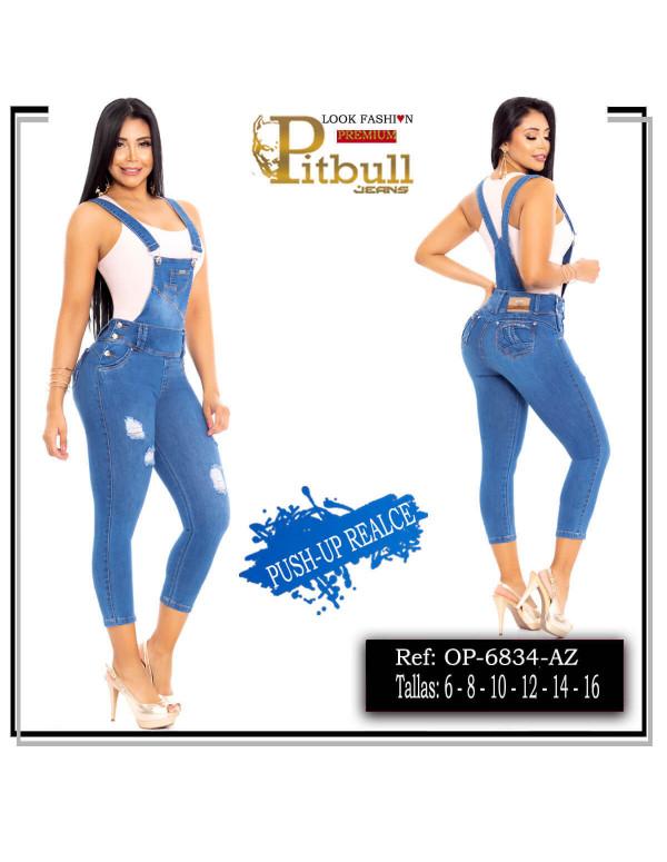 overol pitbull azul op6834