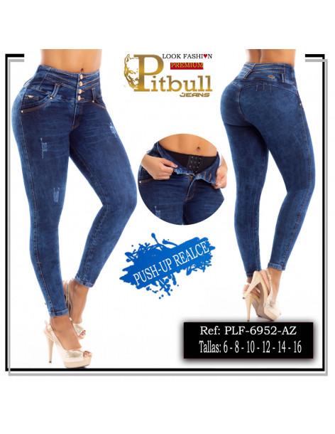 pantalon pitbull con faja azul plf6952